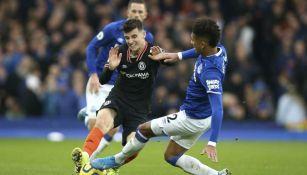 Mason Mount, durante el partido contra Everton