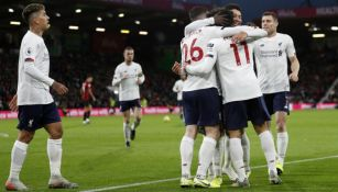 Liverpool, en festejo de gol