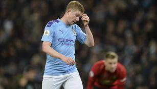 De Bruyne lamenta la derrota ante el United