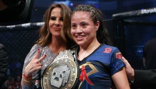 Melissa Martínez en su combate de MMA