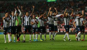 Rayados festejando el pase a la Gran Final de la Liga MX