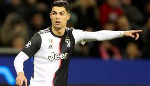 Cristiano Ronaldo en el juego ante el Leverkusen