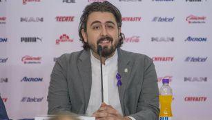 Amaury Vergara, en una conferencia de prensa