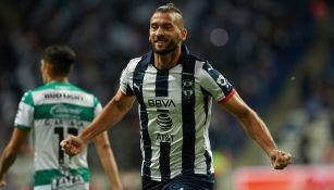 Nico Sánchez festeja un gol en el Apertura 2019