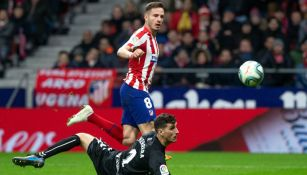 Saúl Ñíguez venció a Sergio Herrera para el segundo gol