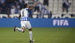 Leonel Vangioni celebrando su gol ante Al-Sadd