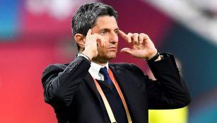 Razvan Lucescu, durante el juego del Al Hilal ante el Flamengo