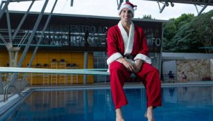 Pacheco posa disfrazado de Santa