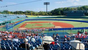 Estadio de de Fukushima en partido de Beisbol