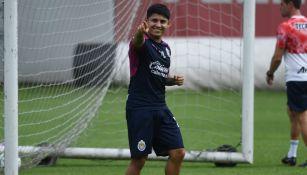 Javier 'Chofis' López en entrenamiento con Chivas