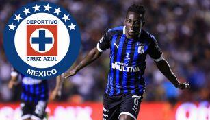 Aké Loba celebra un gol con Querétaro
