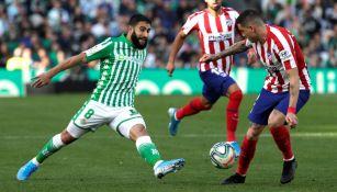 Nabil Fekir en el partido entre Real Betis y Atlético de Madrid