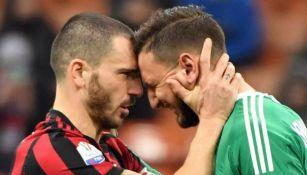 Bonucci y Donnarumma en lamento como jugadores del Milan