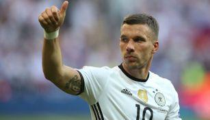 Lukas Podolski, durante un juego de Alemania