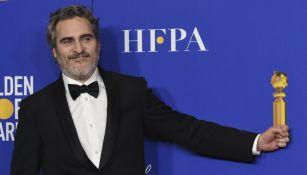 Joaquin Phoenix en la entrega de los Golden Globes