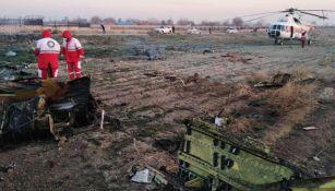 Lugar donde se estrelló la aeronave ucraniana