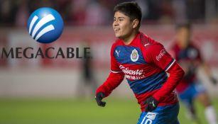 Javier López celebra gol ante Necaxa