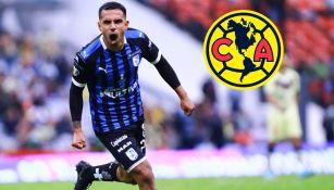 América: Jesús Escoboza celebra un gol con Gallos Blancos