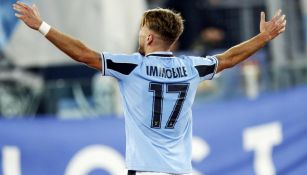 Ciro Immobile celebrando el gol de la victoria