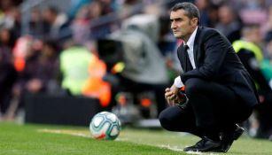 Valverde, en el banquillo del Barcelona