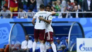 Carlos Vela y Javier Hernández en la Selección Mexicana