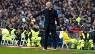 Zidane, durante el encuentro del Madrid