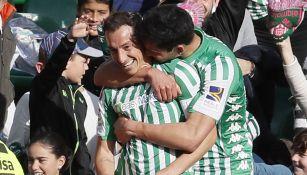 Andrés Guardado, en partido del Betis