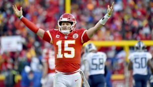 Mahomes celebra una anotación de Kansas City
