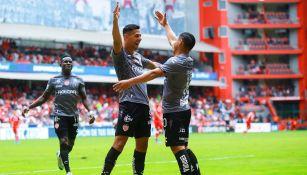 Mauro Quiroga celebra gol ante Toluca