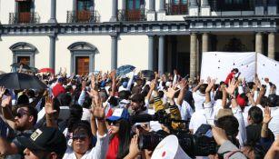 La protesta de los estudiantes de la UAN
