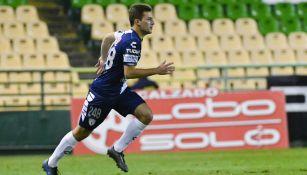Pizzuto en su debut en Primera División