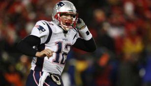 Tom Brady, en un juego con Patriots