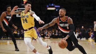 Lakers y Blazers se enfrentaron el viernes en el Staples Center