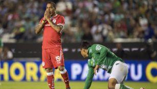 Felipe Pardo durante un partido con Toluca