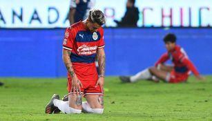 El Chicote Calderón  se lamenta en el partido contra Pachuca