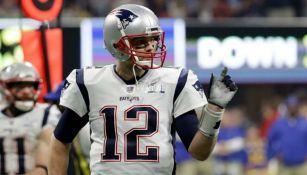 Tom Brady, durante un juego con New England
