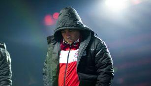 Guillermo Vázquez al final del juego ante Tijuana