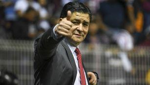 Luis Fernando Tena se muestra feliz con el resultado del Rebaño