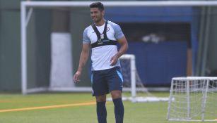 Lucas Passerini durante un entrenamiento con Cruz Azul