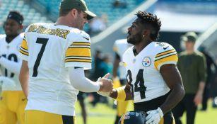 Ben Roethlisberger y Antonio Brown cuando jugaban en los Steelers