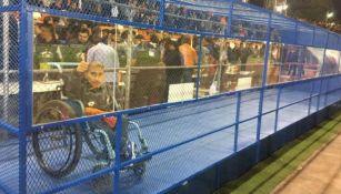 Espació del Estadio Marte R. Gómez para personas en silla de ruedas