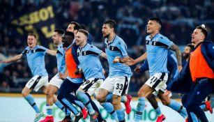 Lazio celebra con su gente el triunfo ante el inter