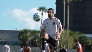 Rodolfo Pizarro durante un entrenamiento del Inter de Miami
