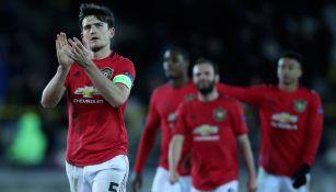 Jugadores del Manchester United, tras el empate