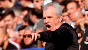 Javier Aguirre lanza un grito en un juego del Leganés
