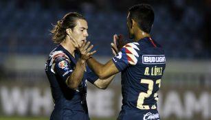 Córdova, durante el juego contra el Comunicaciones de Guatemala