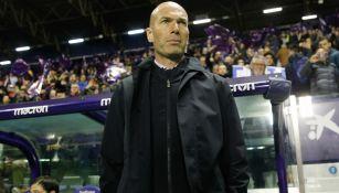 Zinedine Zidane, durante un duelo del Real Madrid
