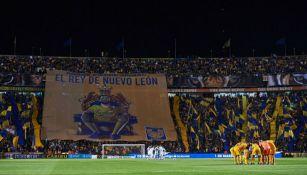 Tifo de André Pierre Gignac en el Estadio Universitario