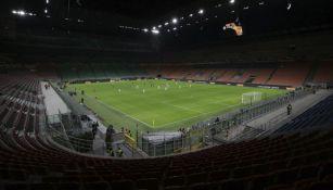 San Siro vacío en el Inter de Milan vs Ludogorets