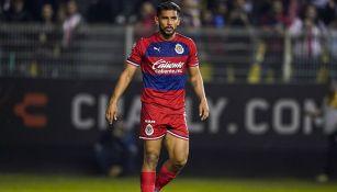 Miguel Ponce en partido con Chivas